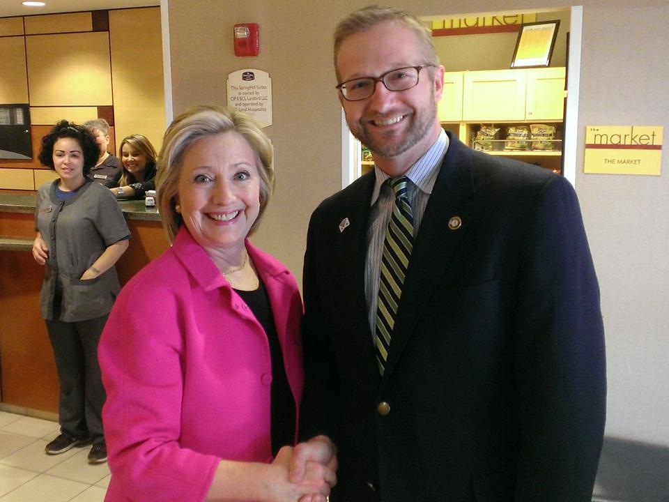 """""""I'm so proud of #AmeriCorps & we're going to keep it going strong""""- @HillaryClinton today in Iowa http://t.co/PkUywo4sVE"""