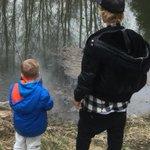 Justin and Jaxo fishin. #Bieberboyz http://t.co/z7B61ca8kX