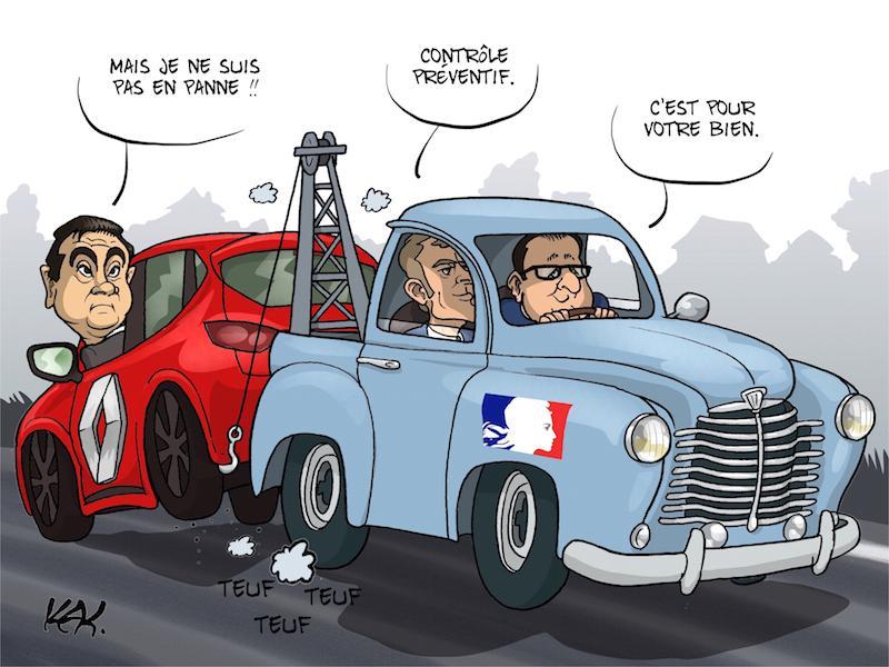 #humour renault : bras de fer entre l'etat et le pdg ...