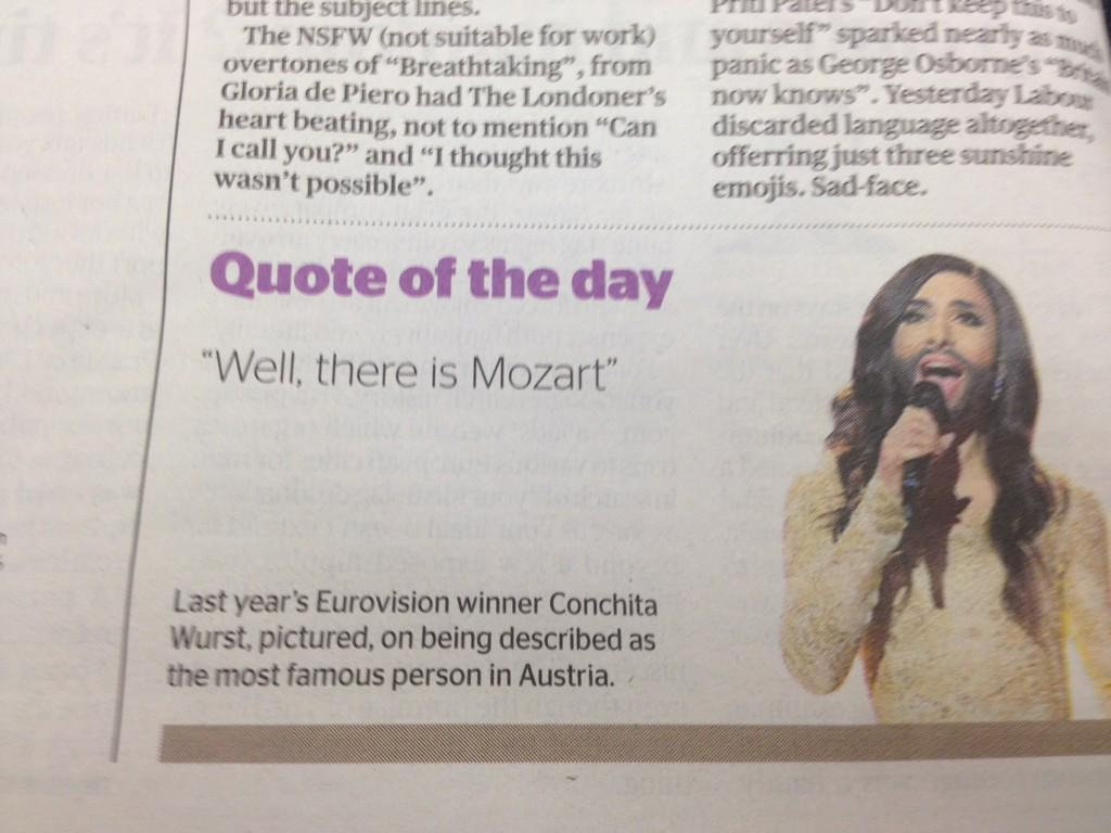 Spotted in yesterday's Evening Standard: Mozart features in our @OAENightShift tour starting tonight in Bristol. http://t.co/KvPaZc6ajV