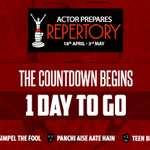 RT @actorprepares: #ActorPreparesRepertory begins on 18th April. Book your tickets now!!!