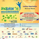 🅿🅱#Indplas'15-Mega Plastic exhibition inviting Indian& foreign exhibitors. Click to register :http://t.co/ZshGn8MRc6  http://t.co/9isTrqYWx1