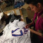FIRST LOOK: Working on @KrisBryant_23s @Cubs jersey at @MajesticOnField. http://t.co/mCg6wtLmnM