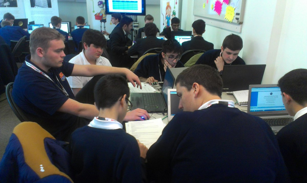 Cyber specialists of the future at #TNMOC, for the #CyberCenturion, concentration levels impressive http://t.co/GVgKgfECP7