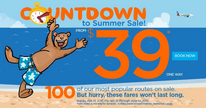 Sale on @FlyFrontier ends midnight tonight. Scrooooll down at for Dulles deals!
