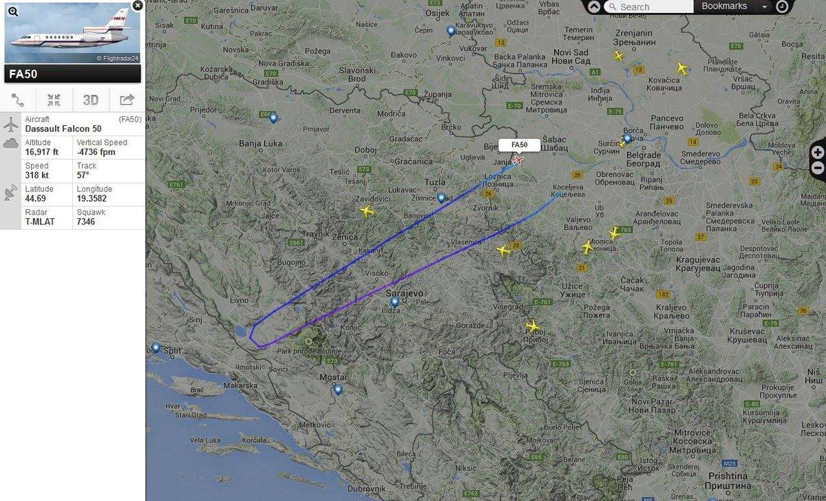 Inače, avion nije bio iznad Jadranskog mora http://t.co/LBeuA8YbkU