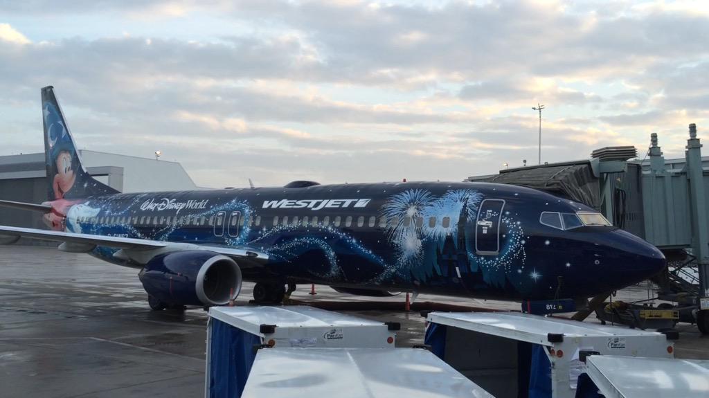 RT @KevinFrankish: Just shot video of MagicPlane waiting for us at the gate.  @BTtoronto @WestJet BTinDisney http:…