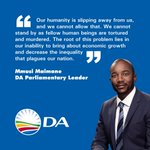 Our humanity is slipping away from us, and we cannot allow that - @MmusiMaimane #XenophobiaMustFall #Jeppestown http://t.co/5u670sQIan