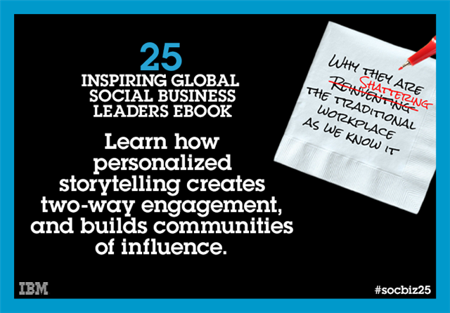 The inspiring #socbiz25 leaders' stories: The power of personalized storytelling http://t.co/Vh383rLYok http://t.co/Akr6zD07qG