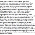 Browns QB Johnny Manziel releases statement on his recent rehab stint. http://t.co/Mu3tervCPe