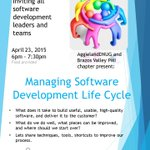 Join @aggielanddnug, Brazos Valley Managers group on April 23d and your fellow geeks to discuss SDLC 6pm @improving http://t.co/n3RRzLhJwx