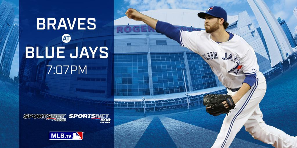 RT @BlueJays: .@1DrewHutch takes the mound as @BlueJays open three game series against Braves.