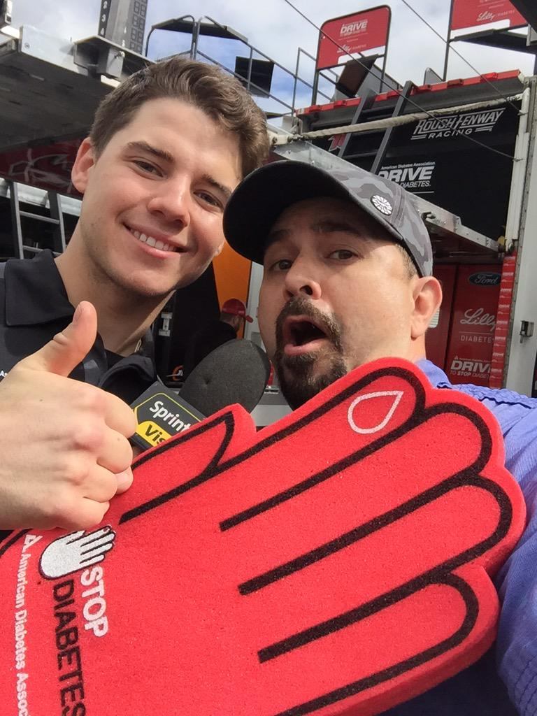 Hashtag your photos #StopDiabetes Be on the big screen w @driverRyanReed @LillyDiabetes here @BMSupdates http://t.co/grodZF3lUz