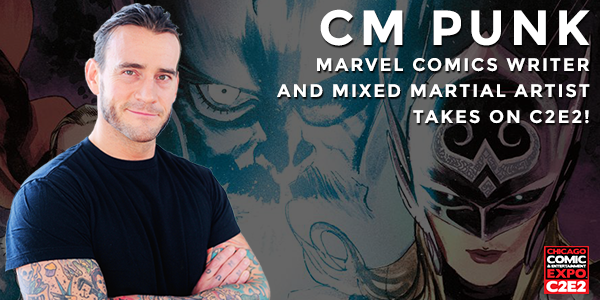 I hear @CMPunk will make a big announcement at his panel @c2e2 April 26! Send me your questions for him! #c2e2panels http://t.co/6xNM0G6qtD