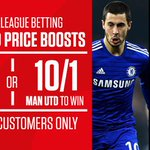 Chelsea @ 5/1 or Man Utd @ 10/1? RT if you think Chelsea will win, FAV for Man Utd Bet now: http://t.co/jRWBCnh8Zz http://t.co/SDBU7qq2Kx