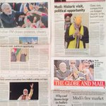 The day after Coverage in Canadian print media today, following PM @narendramodis departure from Vancouver yesterday http://t.co/1npsKJBZTa