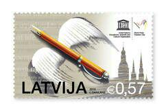Latvia issues what could be world's first World #pressfreedom Day stamp #wpfd2015 #keepspeechfree http://t.co/HTJ1usqzJR