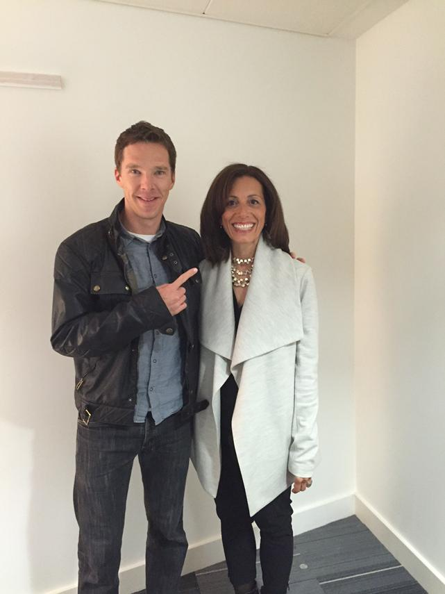 Backstage with #BenedictCumberbatch before my interview at #AdobeSummit @Adobe http://t.co/nkWYKI6M37