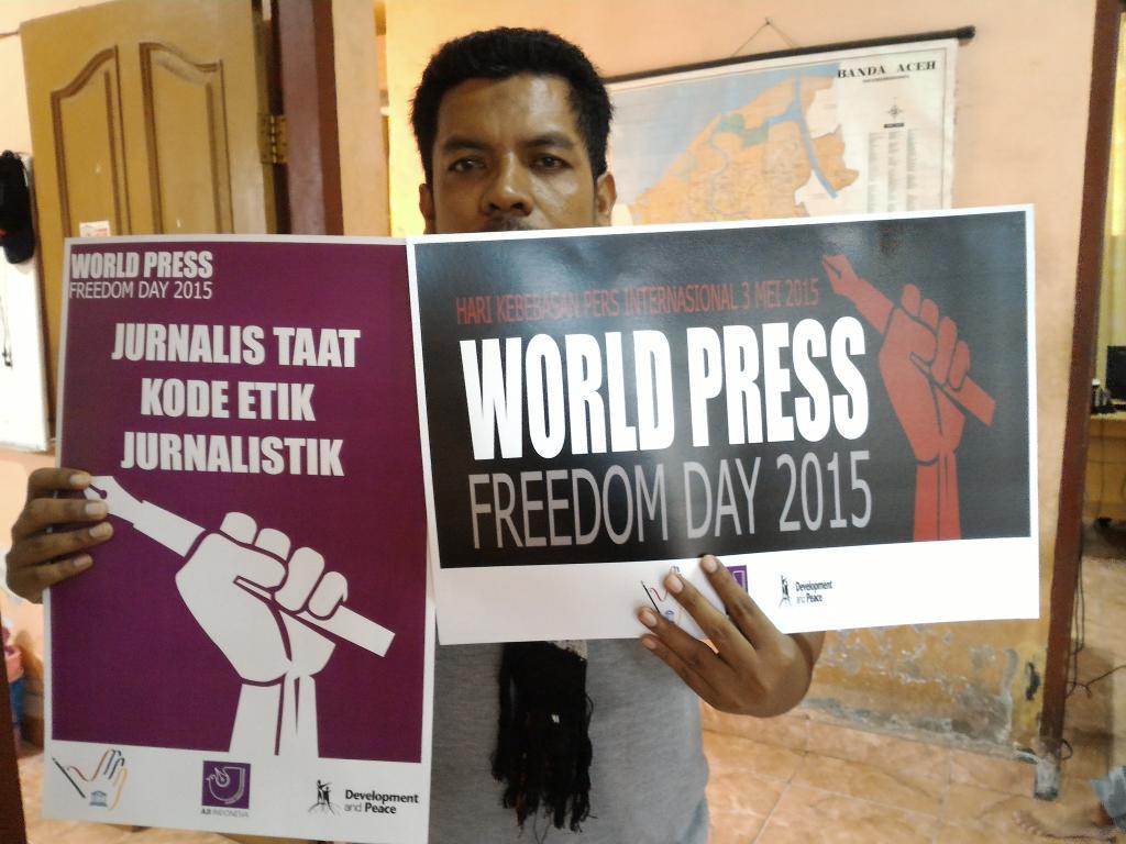 Kami sudah bersiap unt #WPFD2015. Bagaimana dg Anda? @aji_banda @AJIIndo @AJI_MEDAN @ajilhokseumawe @dewanpers http://t.co/W7xYEwLOI0