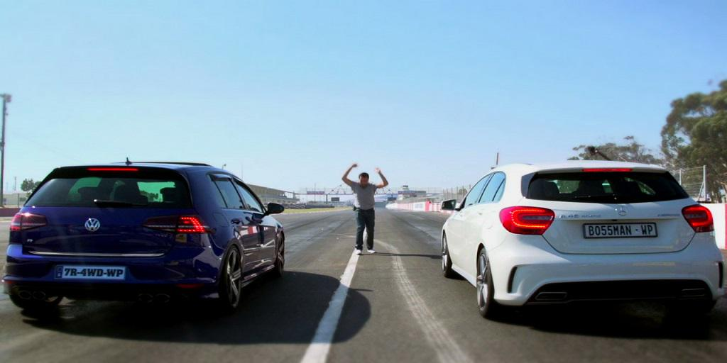 LATEST VIDEO - Watch the #Volkswagen Golf R take on the #MercedesBenz A 45 AMG here: http://t.co/n5eTyjx4TF http://t.co/F7j5fuFYkP