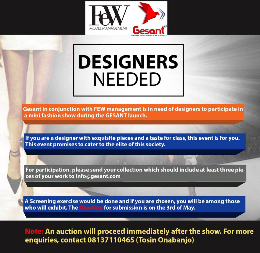Designers in ife and environs please follow the instructions, it is also free http://t.co/F8A3x3kAJN