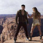 That's @Varun_dvn and his costar Lauren atop the Grand Canyon for a song in #ABCD2