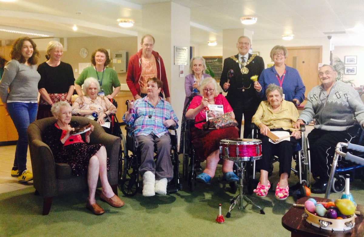 All smiles at Beatrix House at the end of our Tameside #MusicInMind sessions @RoyalPhilSoc #RPSMusicAwards #dementia http://t.co/1er8fmnsK9