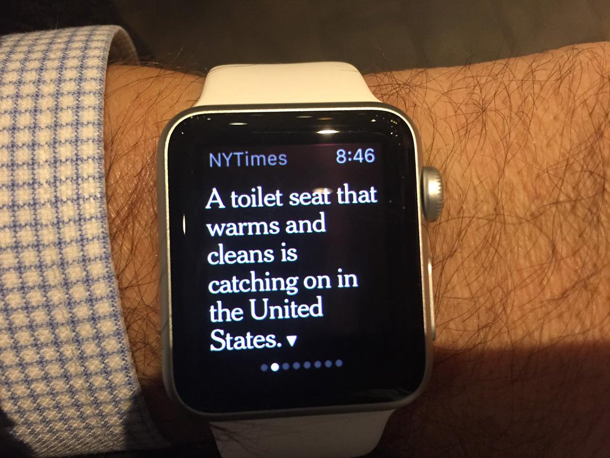 so glad I got an Apple Watch for such important information as this... #AppleWatch http://t.co/uyPi7i14DQ