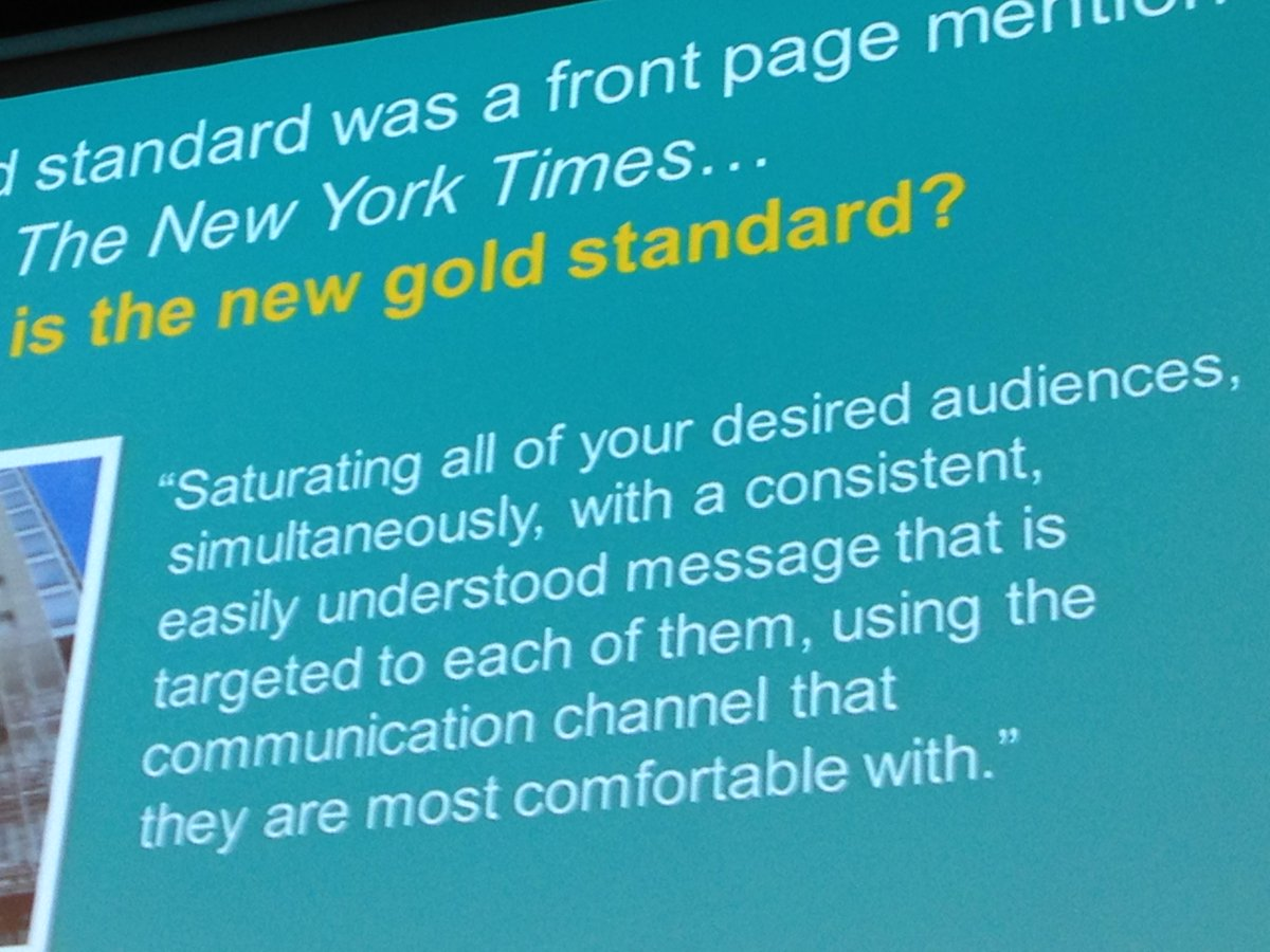 What is the new communications gold standard? #prsclt #cs2015 http://t.co/pdhSBfFLHi