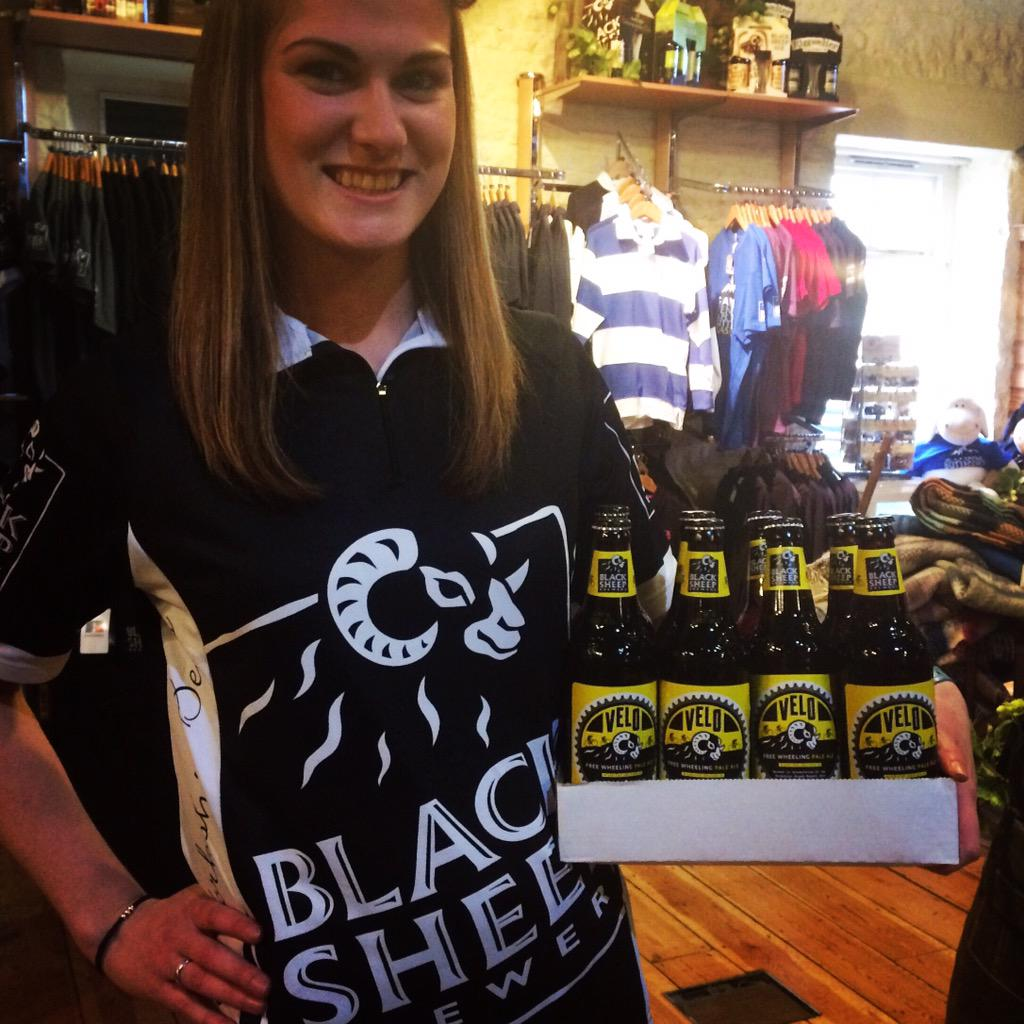 Celebrating @letouryorkshire Win a Black Sheep cycling top & a case of Velo retweet to enter (Carlie not included!) http://t.co/qNxhOIc44c