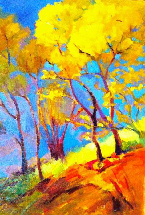 "Trees of a little Girl, 24"" x 36"" oil and acrylic on gallery wrap canvas #art #painting http://t.co/fbNEVSf8xQ"