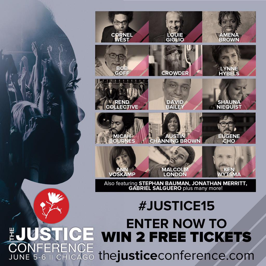 We're giving away 2 tickets to #Justice15! Retweet this and be entered to win. http://t.co/CfRNNvwLyj http://t.co/zQAP3WvPnj