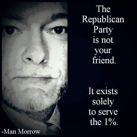 The Republican party has one purpose, to redistribute America's wealth from the middle class to the 1% #p2 #tcot http://t.co/5AZqBrRgVB