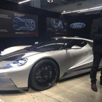 Getting lectured on the gorgeous Ford GT. http://t.co/SgyK12rSkY