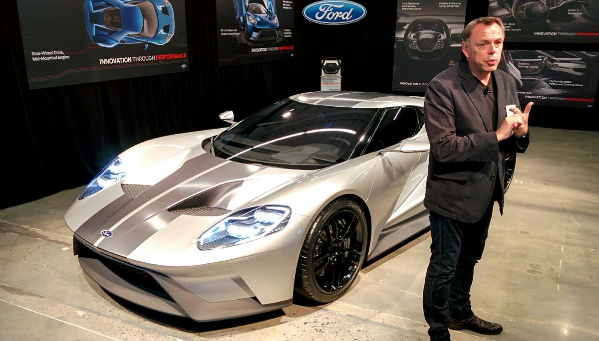 Getting a deeper look at coming Ford GT with Chris Svensson who led design of it. http://t.co/1lexTxr76l
