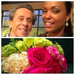 Thanks @BrianGrazer for the visit yesterday @TheTalk_CBS and the GORGEOUS flowers today! You rock.