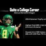 Marcus Mariota has fewer interceptions than any QB ever to throw 100 touchdowns in FBS history. http://t.co/Ark9FlHNaY