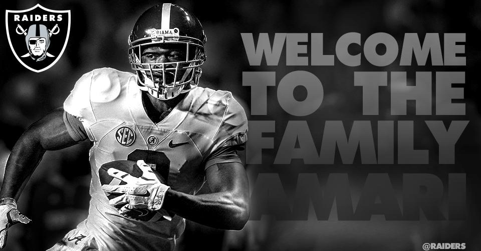 With the 4th pick in the 2015 NFL Draft, the Oakland Raiders select WR  Amari Cooper. #WelcomeToTheFamily http://t.co/HjZxzj1Ii8