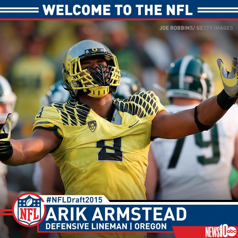 Congratulations to Elk Grove's Arik Armstead! 49ers selected Armstead as the 17th overall pick in the #NFLDraft2015! http://t.co/TCLyXDIu4Z