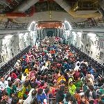 RT @insenroy: One of the last sorties of @BoeingDefense C-17 from KTM to Palam.Total pax brought back by IAF: 3358