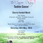 RT @_thecancerdiary: @DarrenBent Hey!Please can u come and support #TheCancerDiary at #CAFC #Charity Footy Match? (Please repost too!)