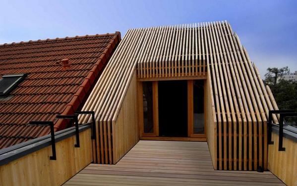 Wauw, mooi voorbeeld van een #dakopbouw...  onder #architectuur @DroomHome @RudolfZijlstra @StedArch http://t.co/EEPbJ04K7r