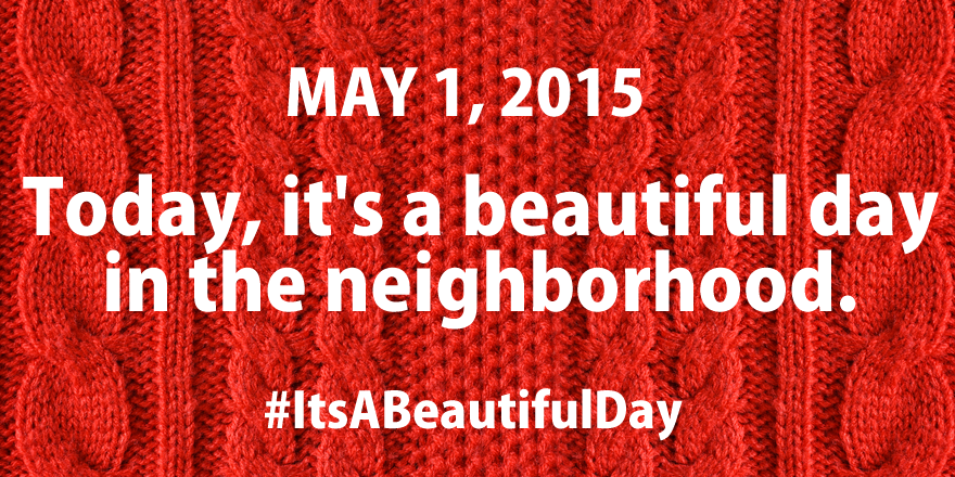 Today, #MisterRogers saved federal funding for public media. Honor him: http://t.co/L3ehFScIBV #ItsABeautifulDay http://t.co/I6qBOJYuD7
