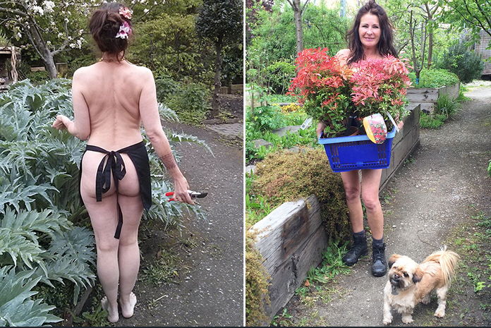 World naked gardening day: green-fingered brigade dig ...