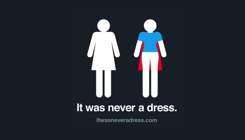 The brilliant toilet sign that's changing the way the world looks at women #ItWasNeverADress http://t.co/T3rzsQdDdu