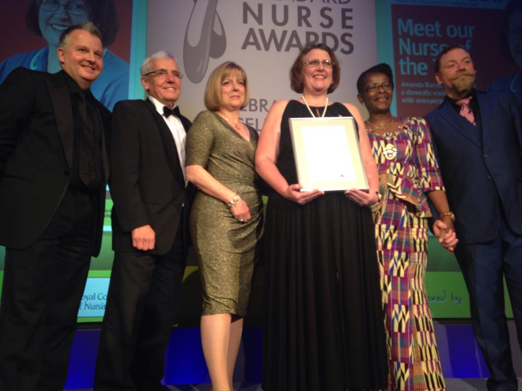 Congratulations to the Nursing Standard Nurse of the Year 2015 Amanda Burston #nurseawards http://t.co/C2yDVpArx0