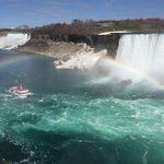 Full-on rainbow at Niagara Falls (don't ask) http://t.co/umvymvre0G
