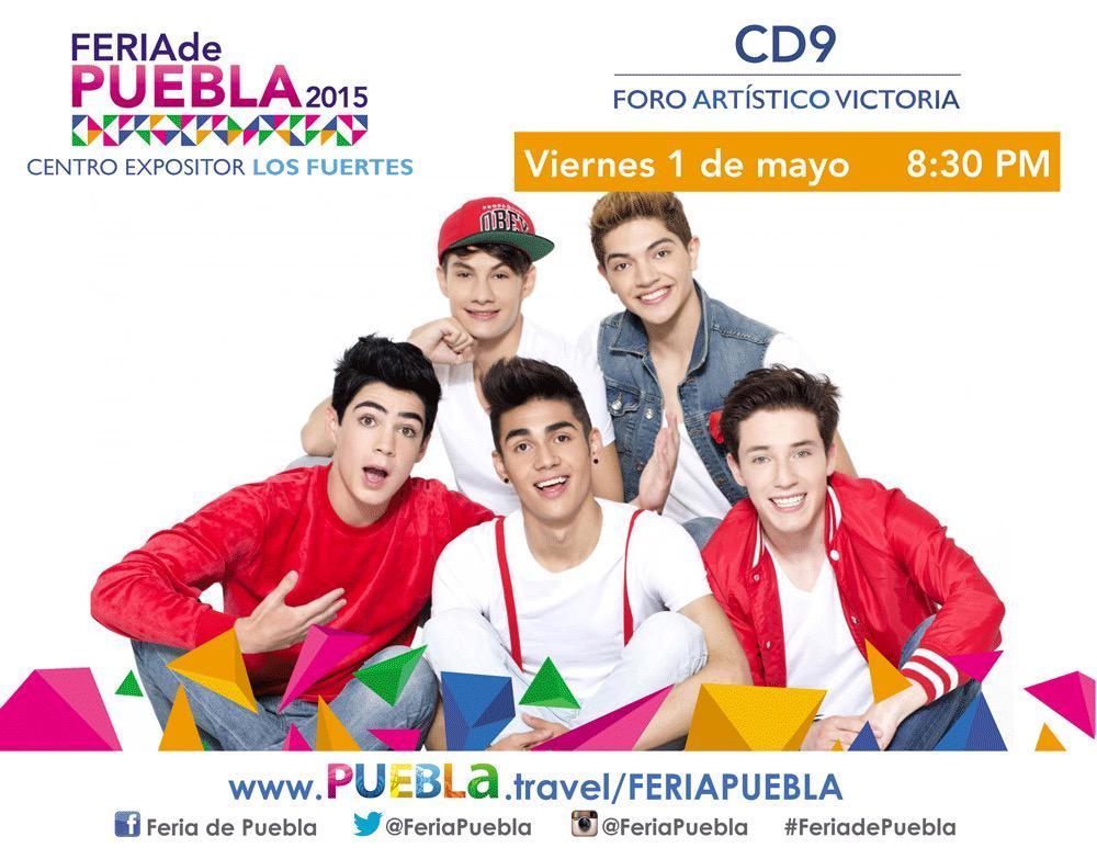 Hoy se presenta @somosCD9, en el #ForoArtístico de la #FeriadePuebla. #ThePartyTour #Puebla @FeriaPuebla http://t.co/ZPJ0aXRQb8