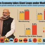Indian Economy takes giant leaps under @narendramodi Govt #MakeInIndia http://t.co/90Df6cVWHw
