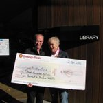 Ian Heriot and Helen Wells make generous donation toward Community Owned solar on the Bendigo Library. http://t.co/G3zj3IXFQP
